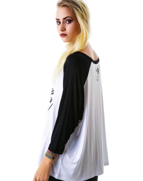 Miss Hearts Loose Baseball Tee