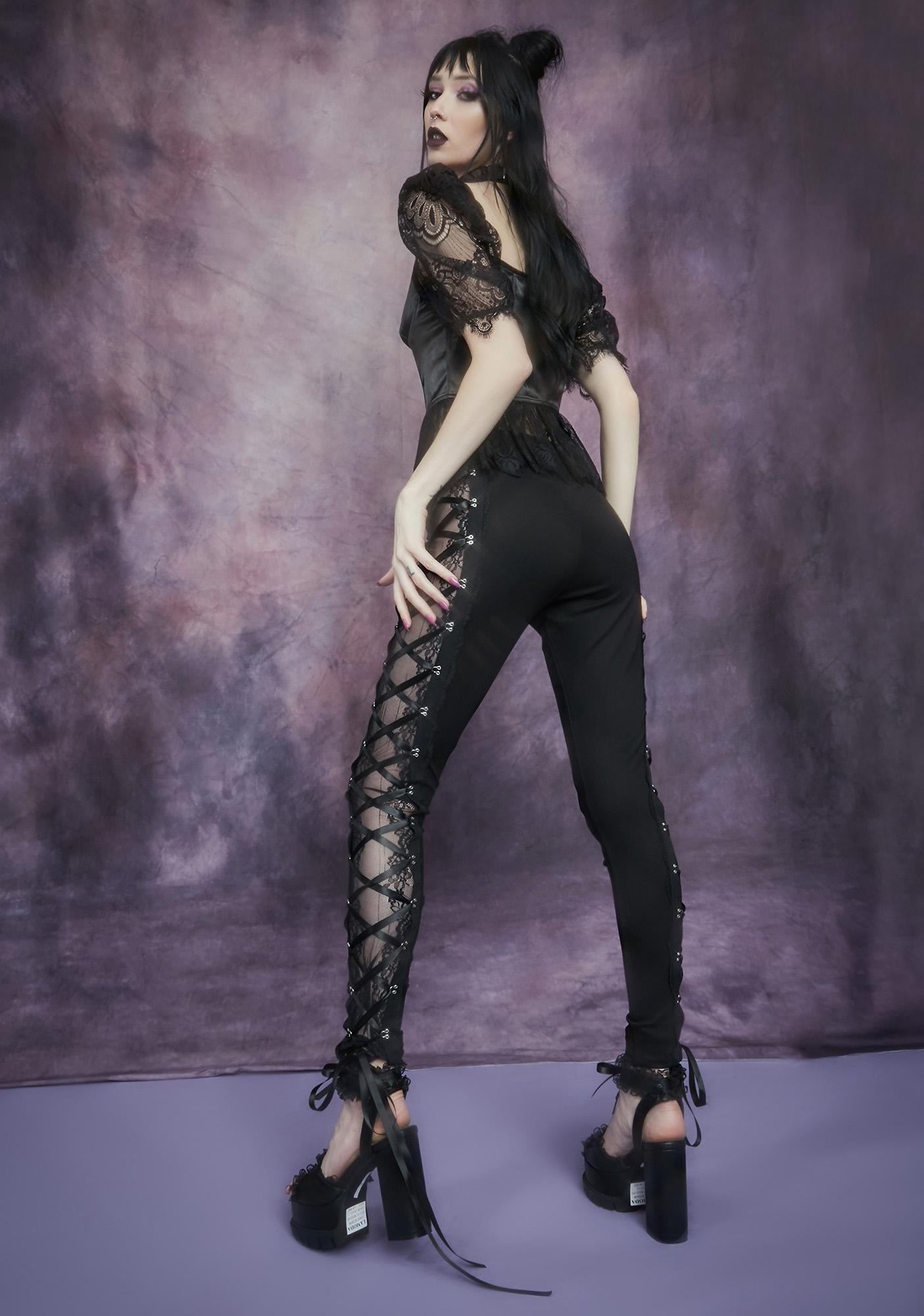 Widow Secret Of Immortality Lace Corset Leggings