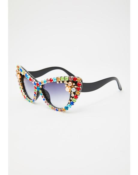 Bling Me Out Rhinestone Sunglasses