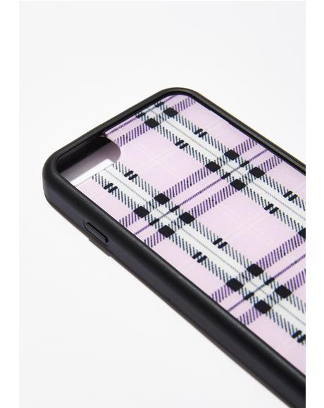 Lavender Plaid Iphone Case