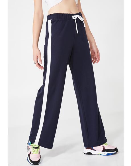 Wide Leg Track Pants
