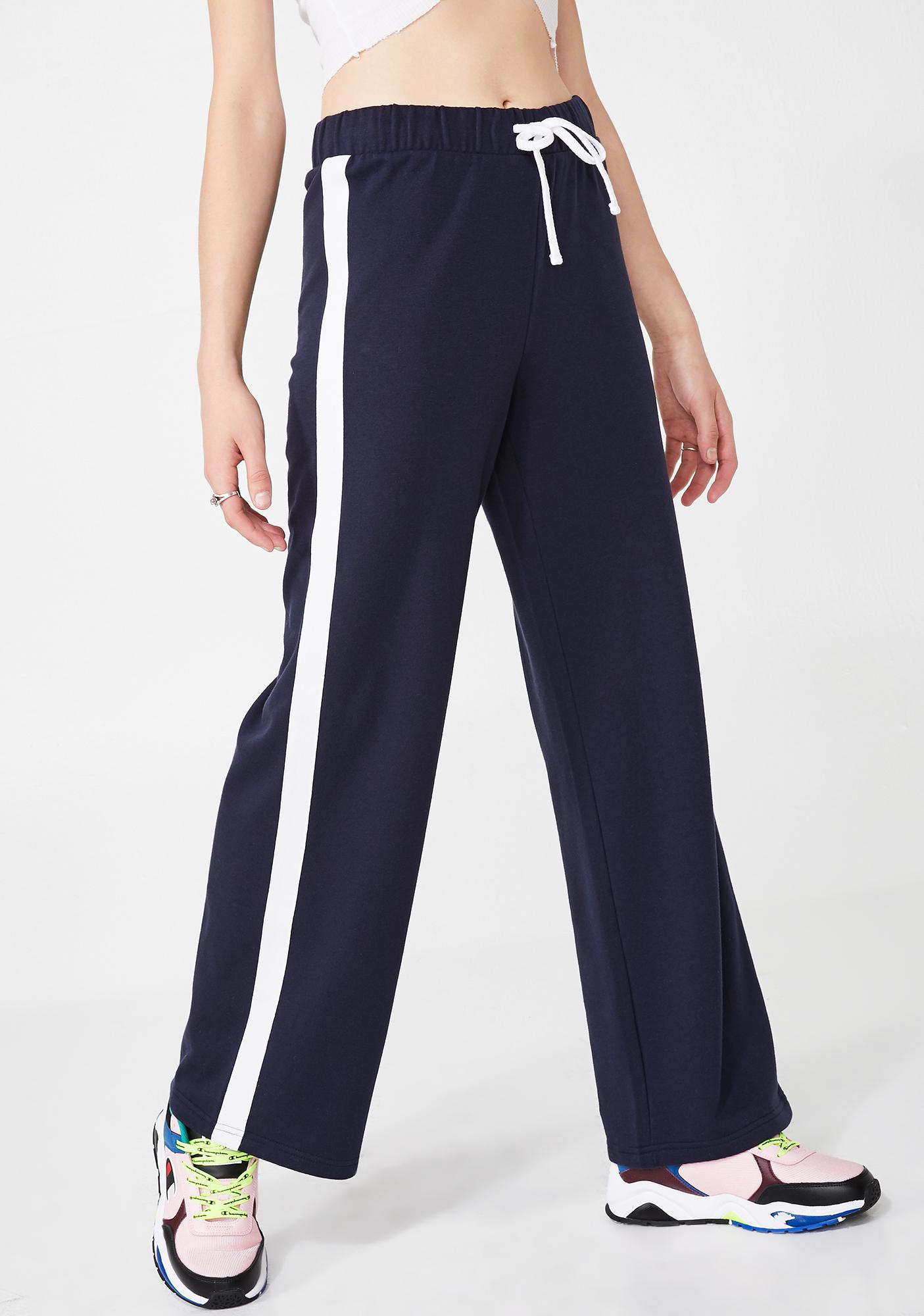 89b9c5ca3f9bdf JUICY COUTURE Wide Leg Track Pants | Dolls Kill