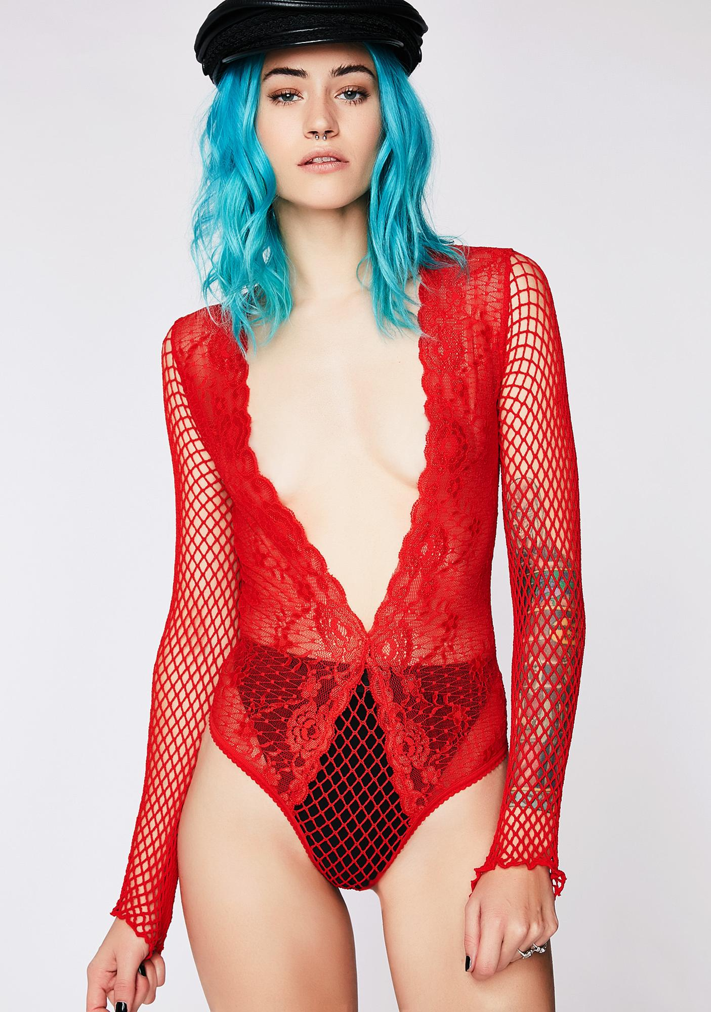 Way To Pain Fishnet Bodysuit