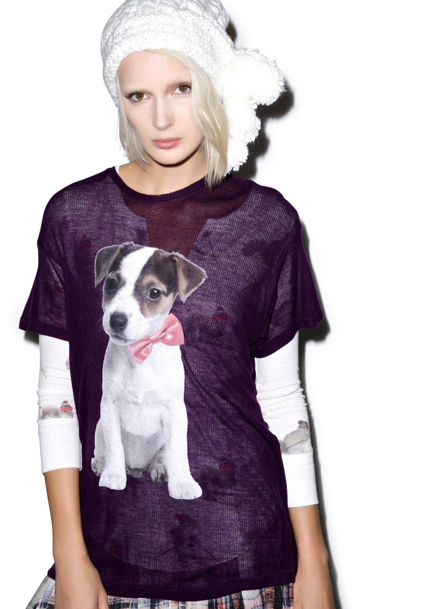Wildfox Couture Baby Russel Wrecked Crewneck Tee