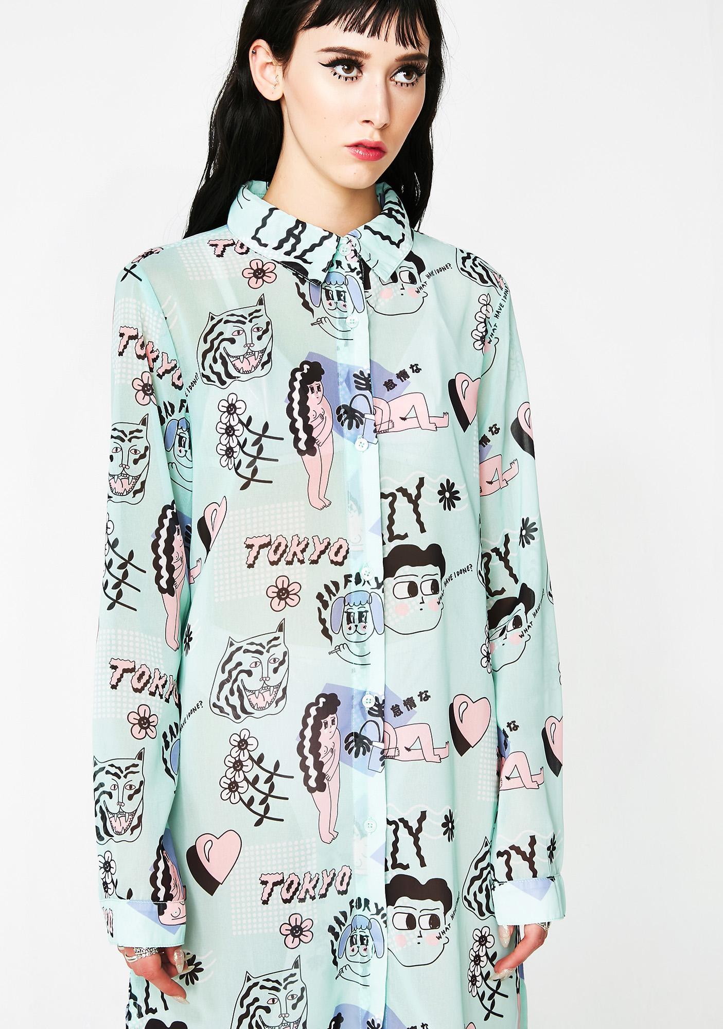 Lazy Oaf Go Go Tokyo Shirt