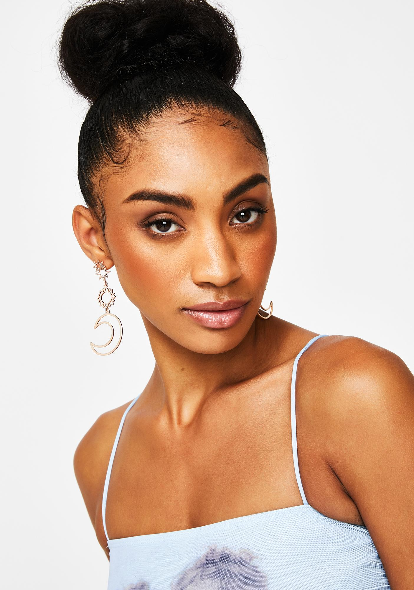 Celestial Diva Drop Earrings