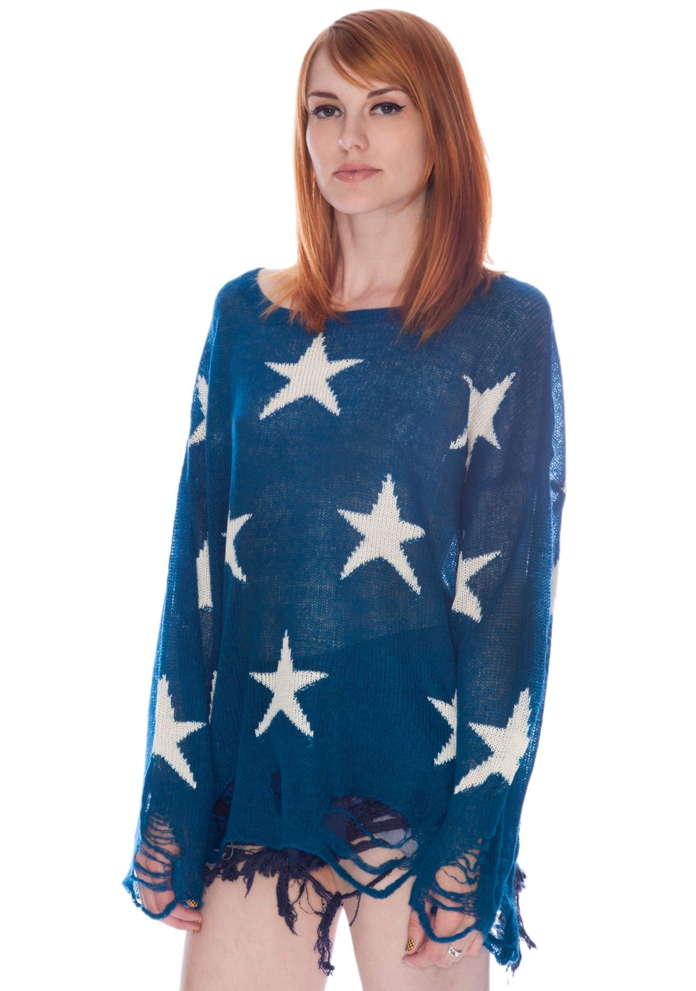 Wildfox Couture Seeing Stars Summer Lennon Sweater