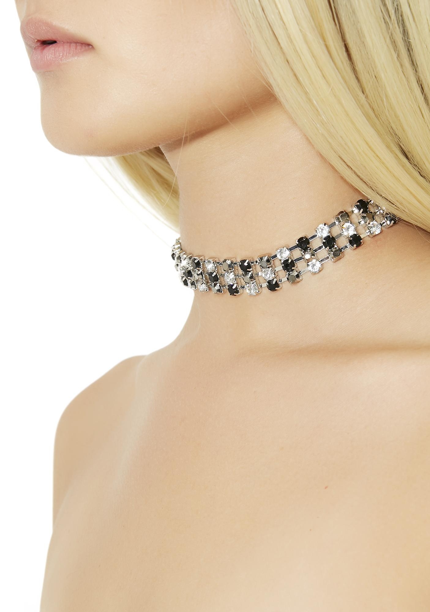 Perfect Punctuation Rhinestone Choker