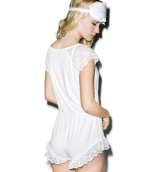 Wildfox Couture To Have And To Hold Bridal Lace Romper