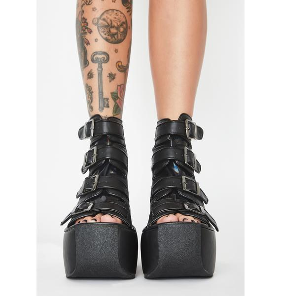 Demonia Zoned Out Buckle Boots