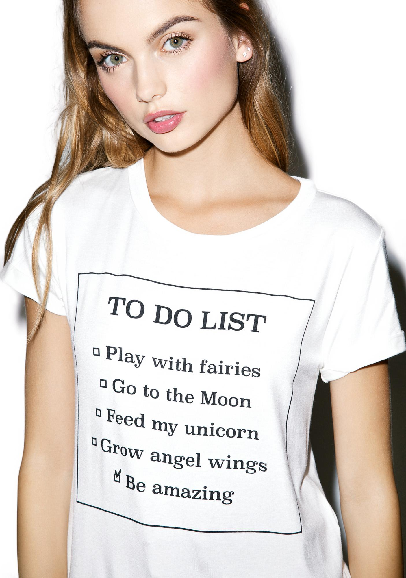 To Do List Tee