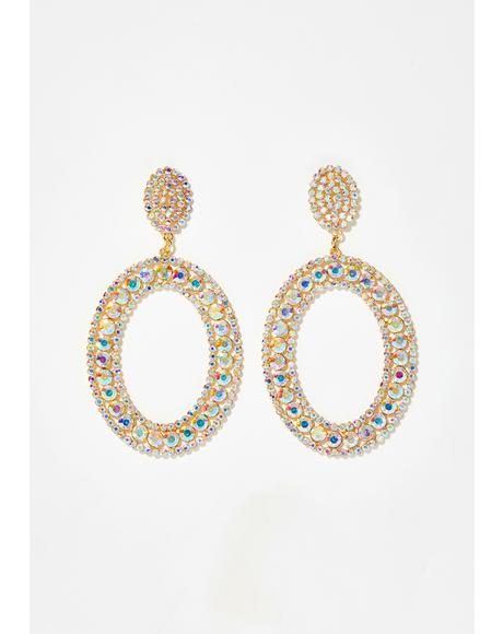 Dazzling Duchess Rhinestone Earrings