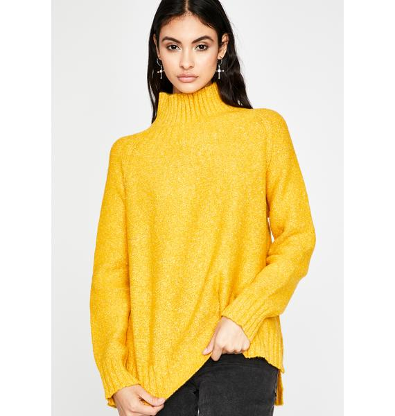 Sunny Bright Vibes Turtleneck Sweater