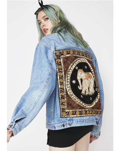 Boho Baddie Embroidered Jacket