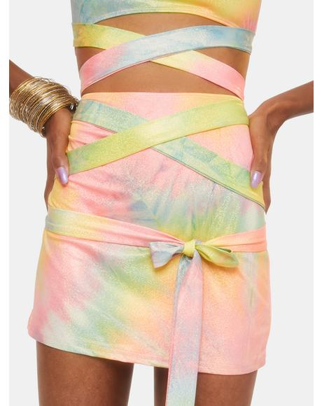Wings Of Paradise Wrap Skirt