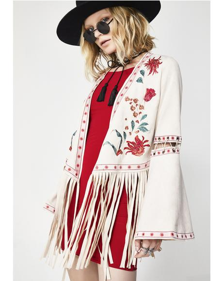 Desert Bloom Embroidered Jacket