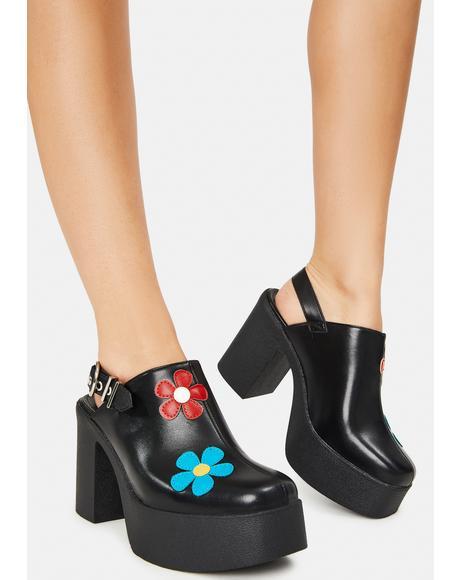 She's A Wildfire Chunky Platform Heels