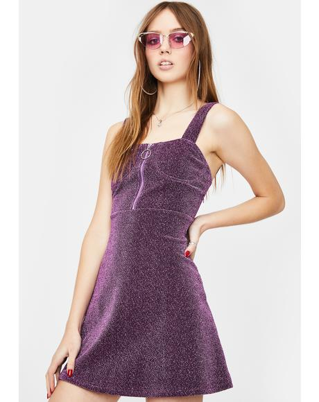 Deep Violet Sparkly Dress