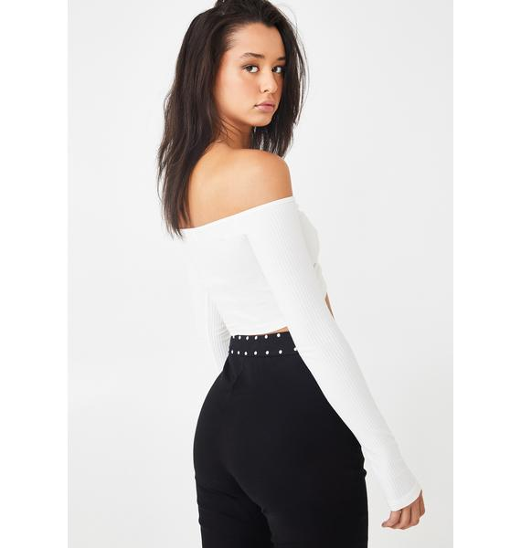 Tiger Mist Sweetheart Ruched Crop Top