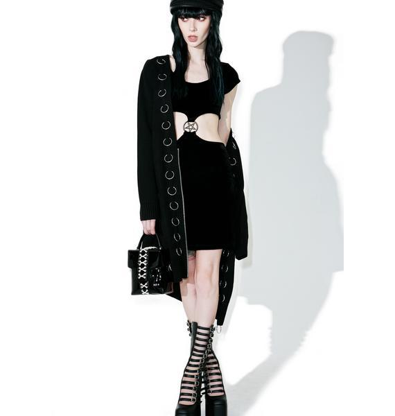 Killstar She's A Hoodbat Bodycon Dress