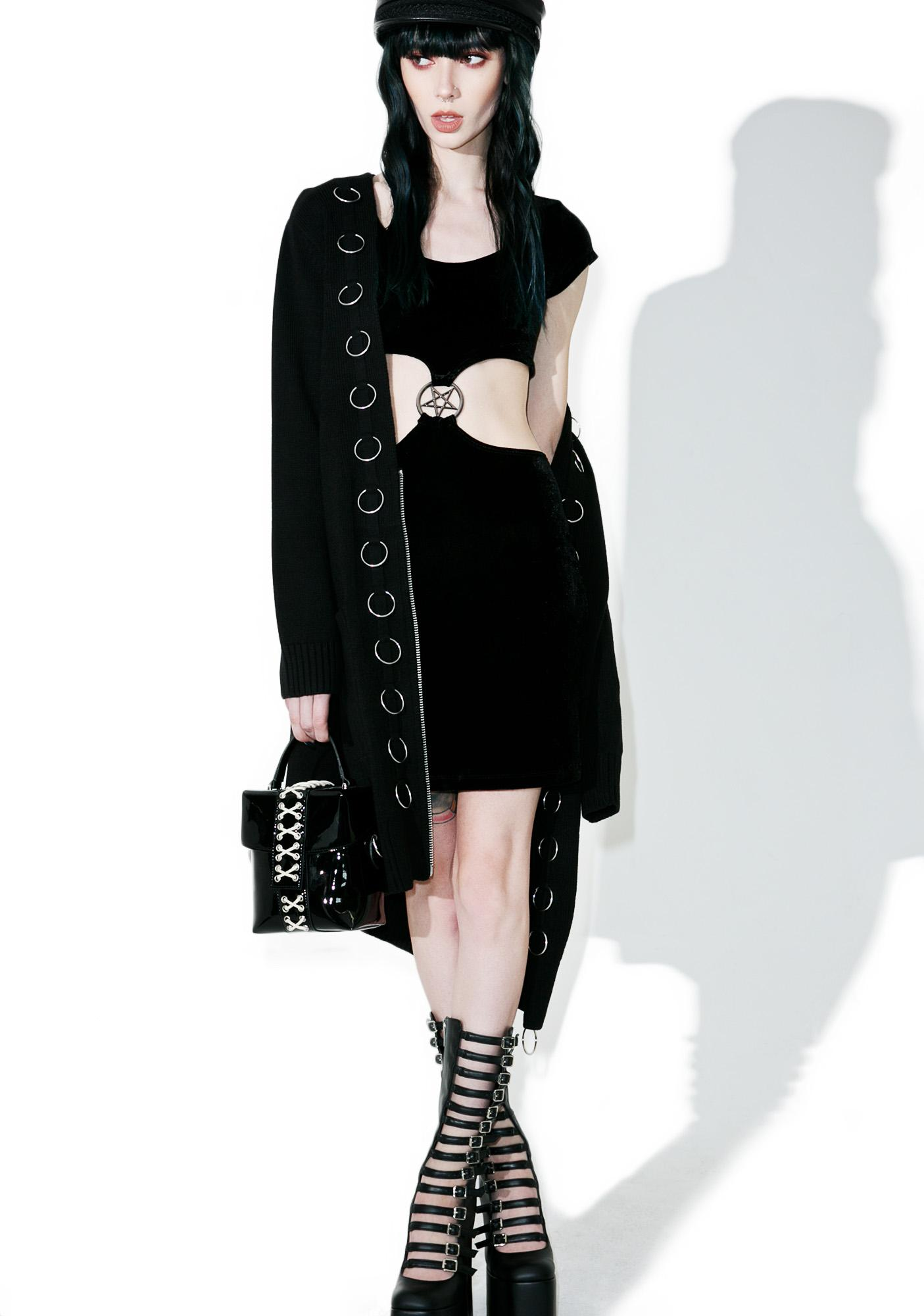Killstar She's A Hoodbat Bodycon Dress
