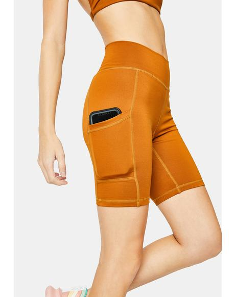 Turmeric Bike Shorts