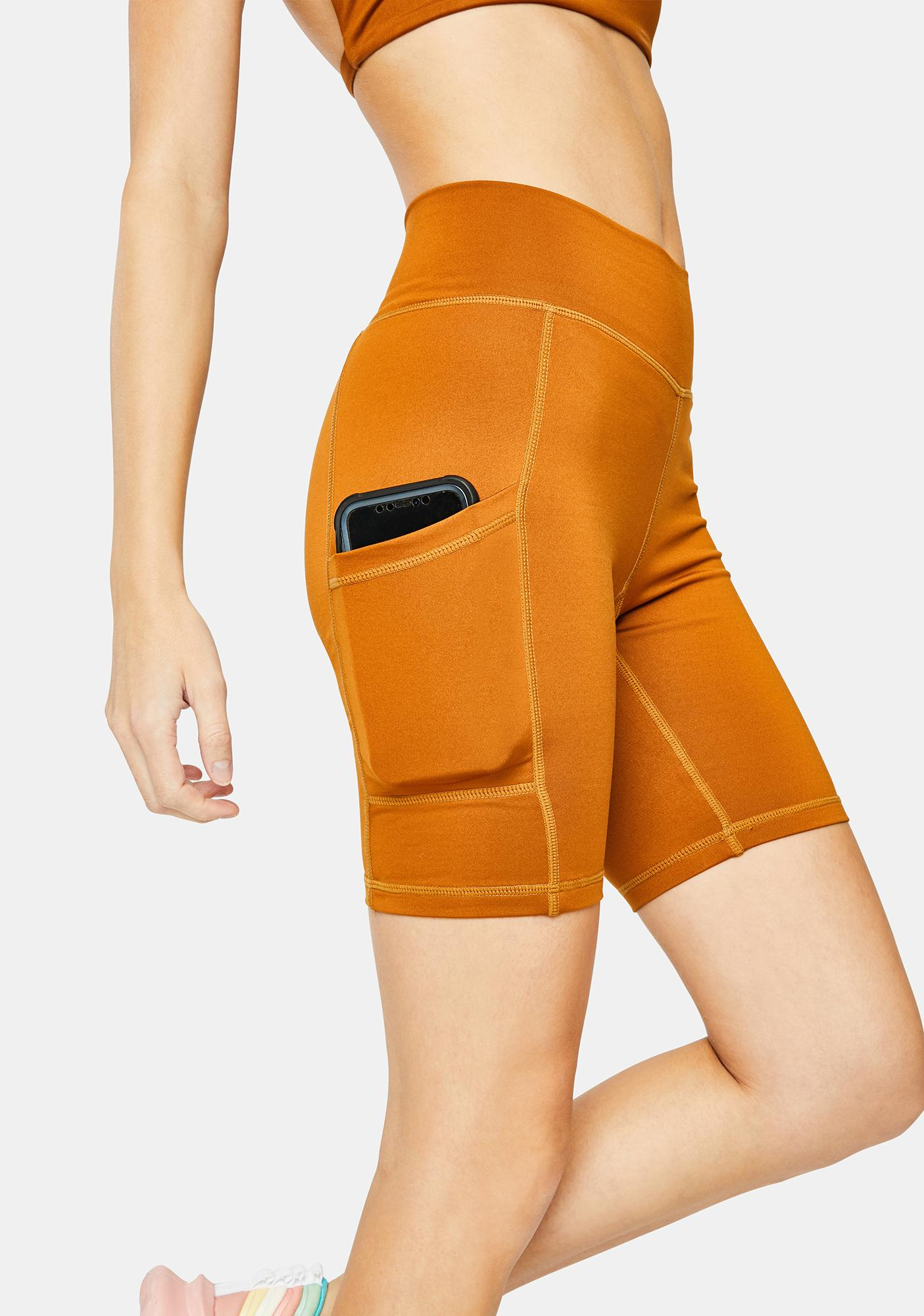 Wolven Turmeric Bike Shorts
