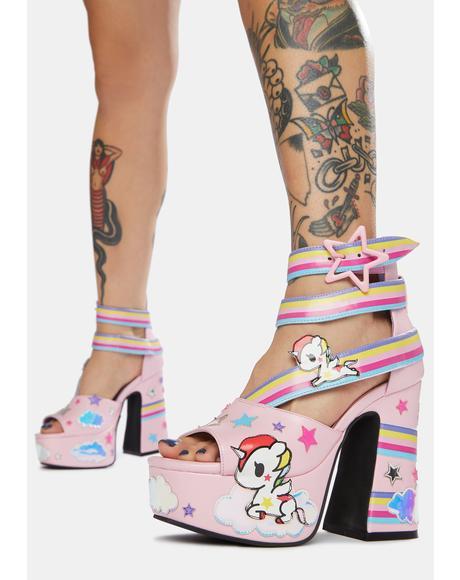 Rainbow Palace Stellina Platform Sandals