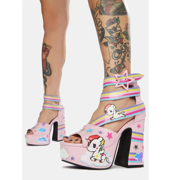 Dolls Kill x tokidoki Rainbow Palace Stellina Platform Sandals