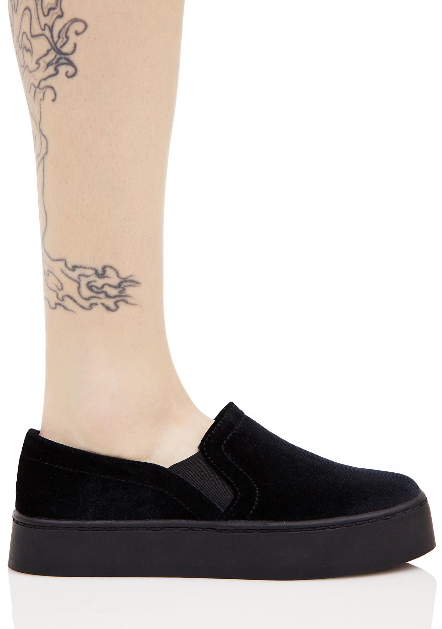 Midnight Rebelle Velvet Sneakers