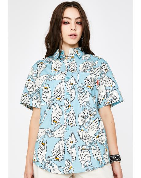 Chain Smoker Button Up Shirt