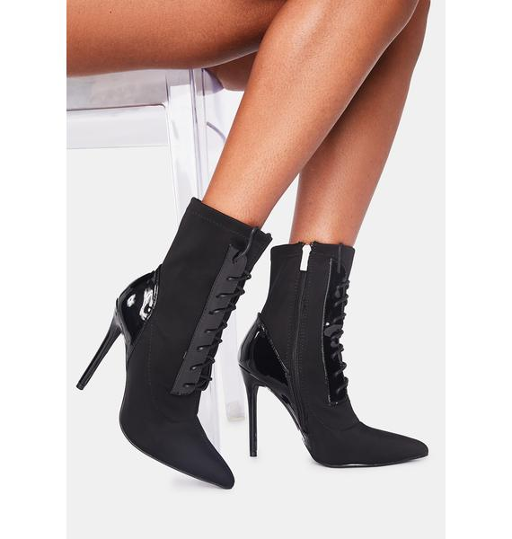 Off The Cuff Lace Up Ankle Boots
