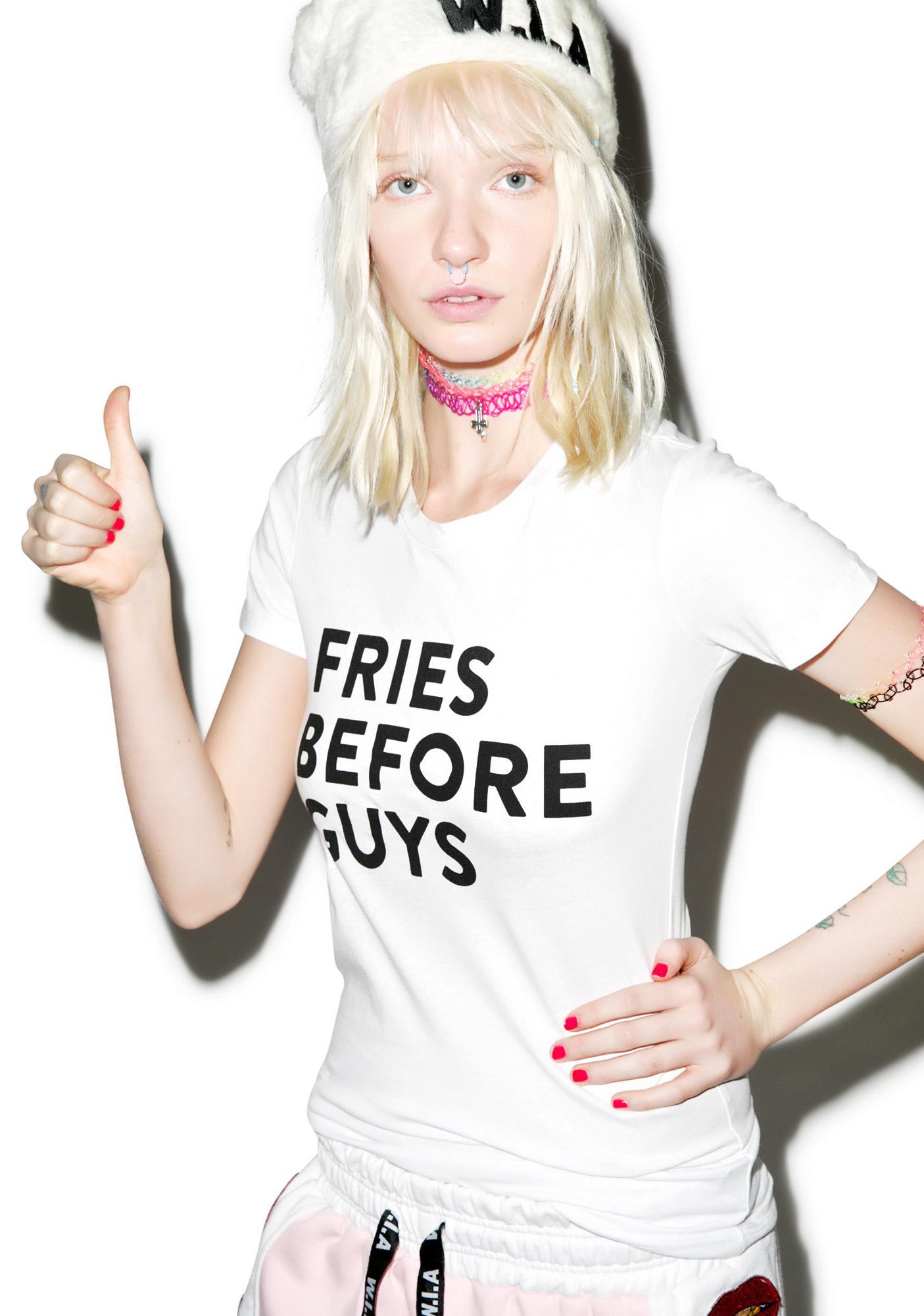 Barber Fries Before Guys Tee
