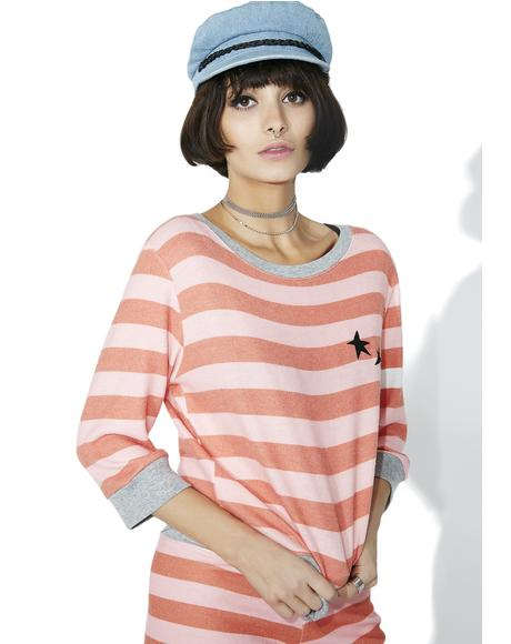 White Stripes Spring Cozy Top