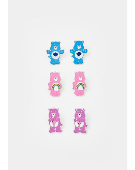 Cute As Fluff Earring Set
