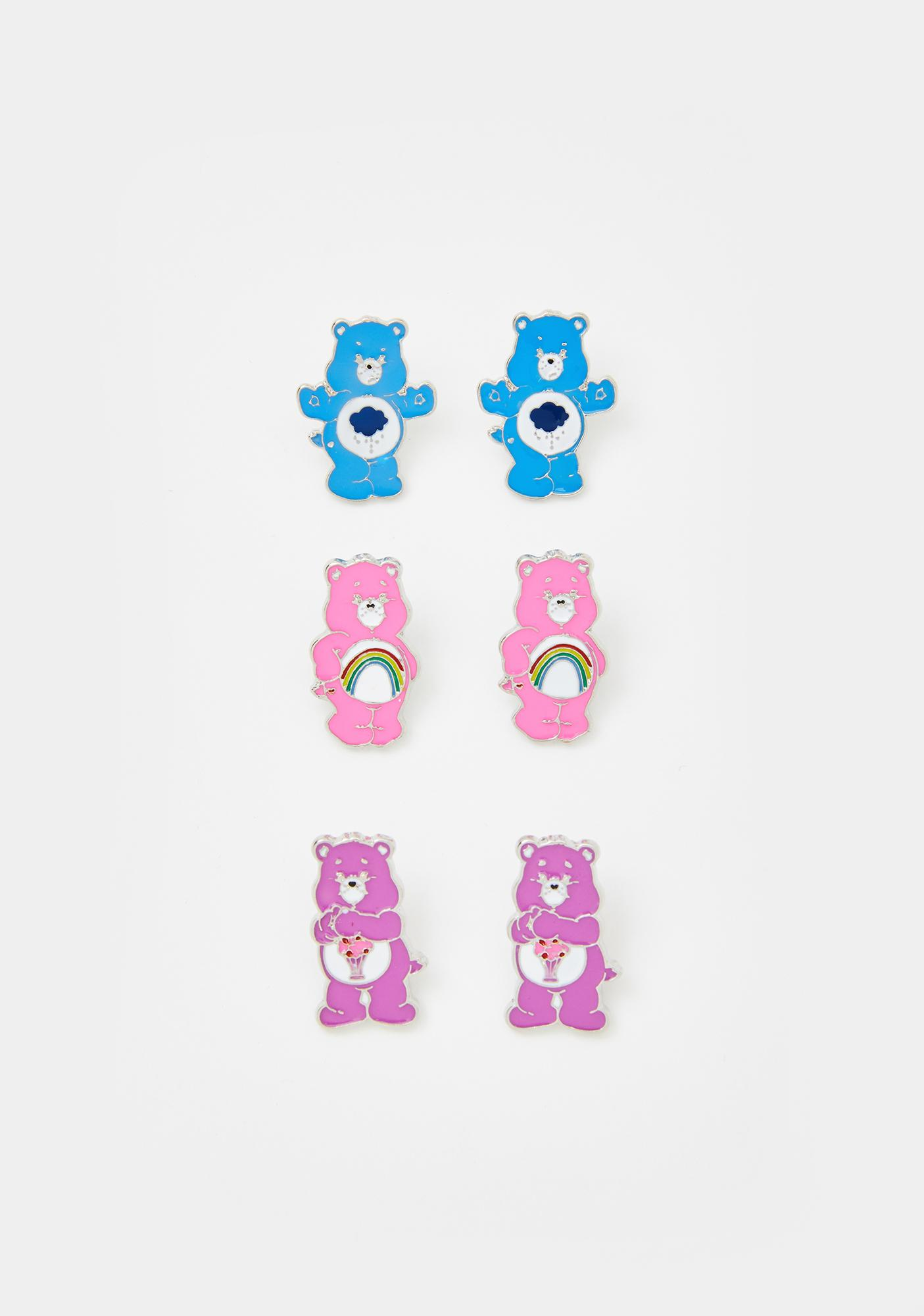 Dolls Kill x Care Bears Cute As Fluff Earring Set