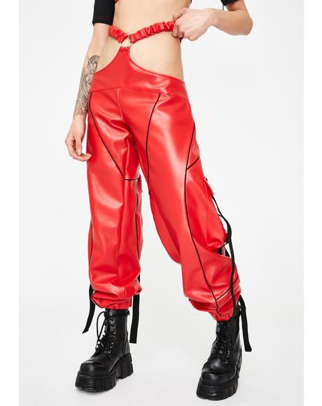 Red Motocross G-String Trousers