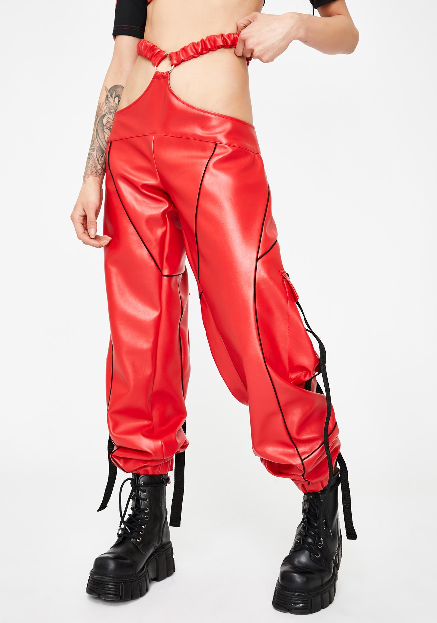 Namilia Red Motocross G-String Trousers