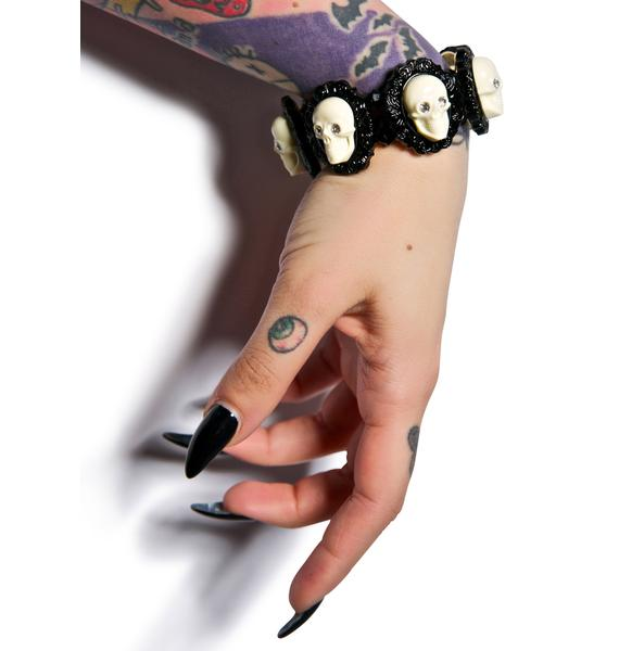 Tarina Tarantino Victorian Skull Bracelet