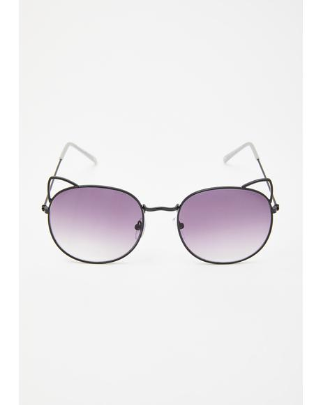 Furever Catty Circle Sunglasses
