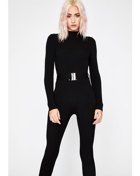 Secret Agent Chic Belted Jumpsuit