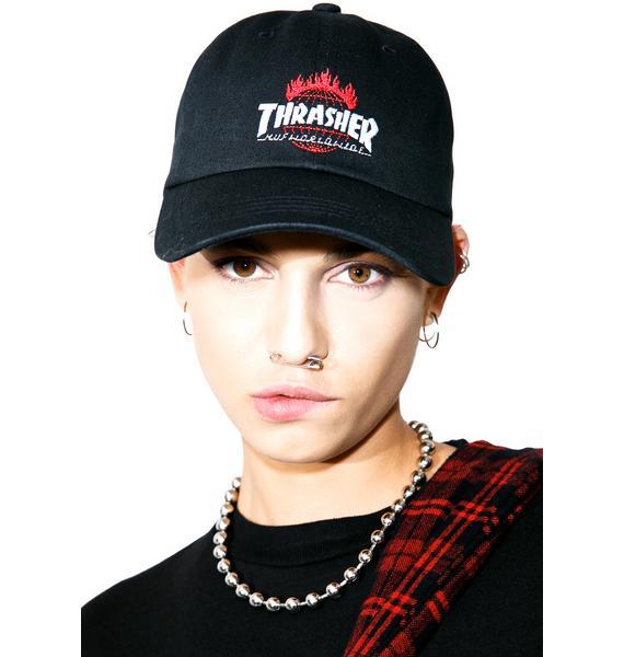 HUF X Thrasher Tour De Stoops 6 Panel Hat