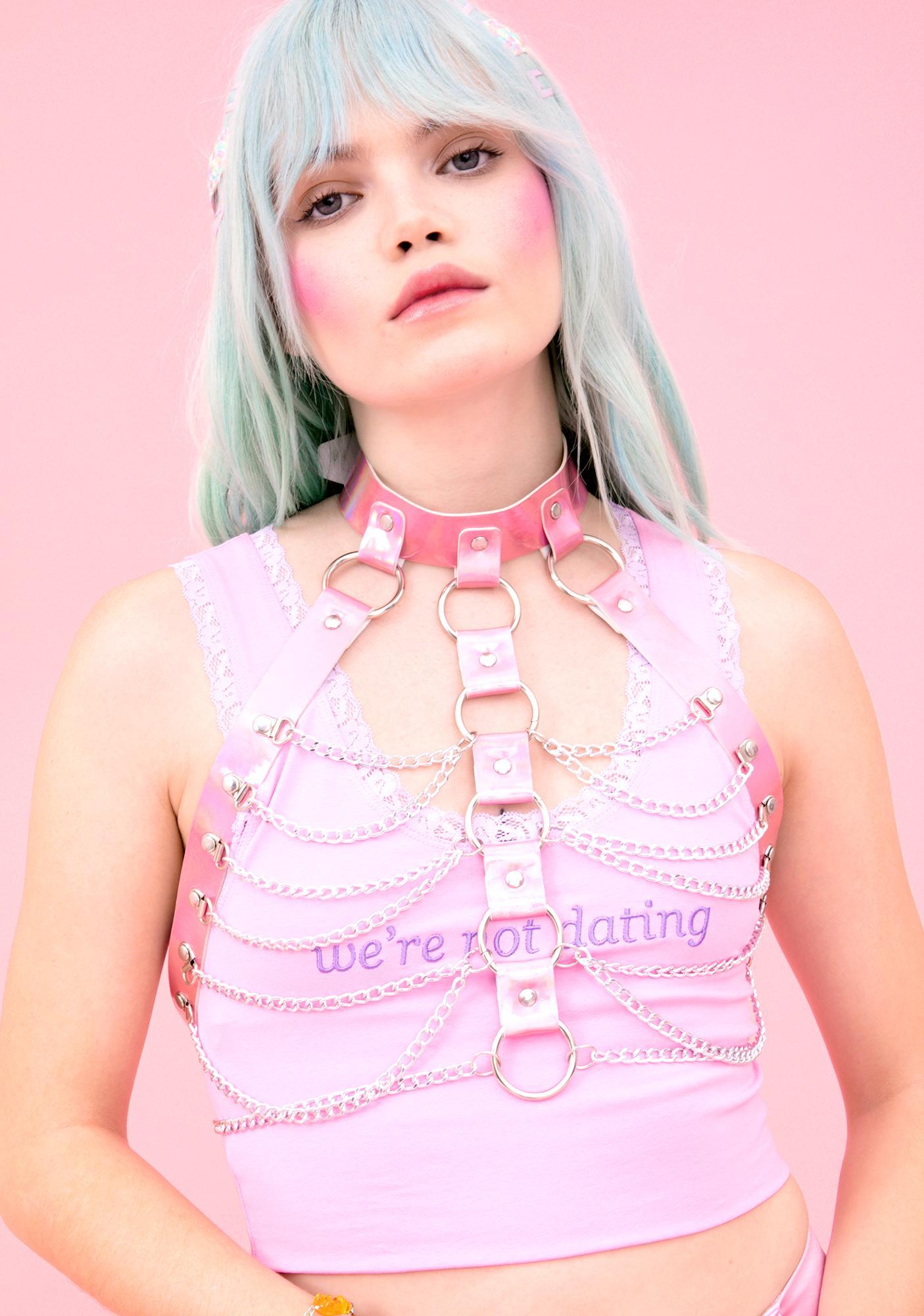 Kinky Candy Holographic Harness