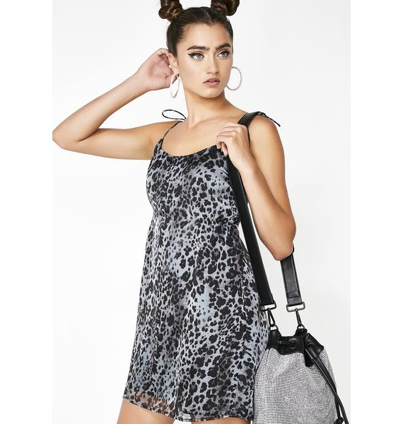 Miss Kitty Leopard Slip Dress