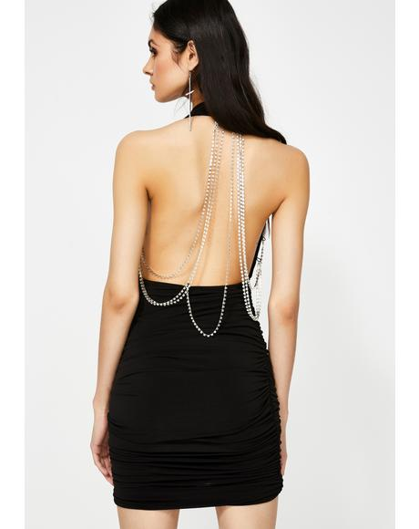Bad News Baddie Chain Dress