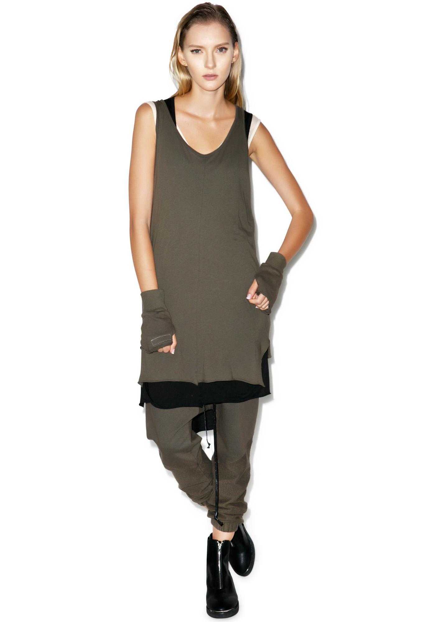 Knomadik Army Trail Tank Dress