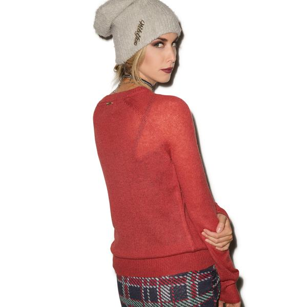 Wildfox Couture Bulldog Party Sweater