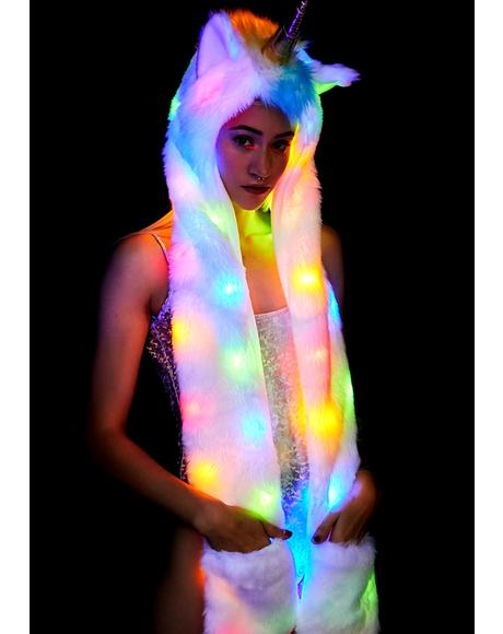 Golden Unicorn Light Up Hood