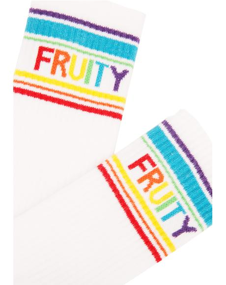 Fruity Gym Crew Socks