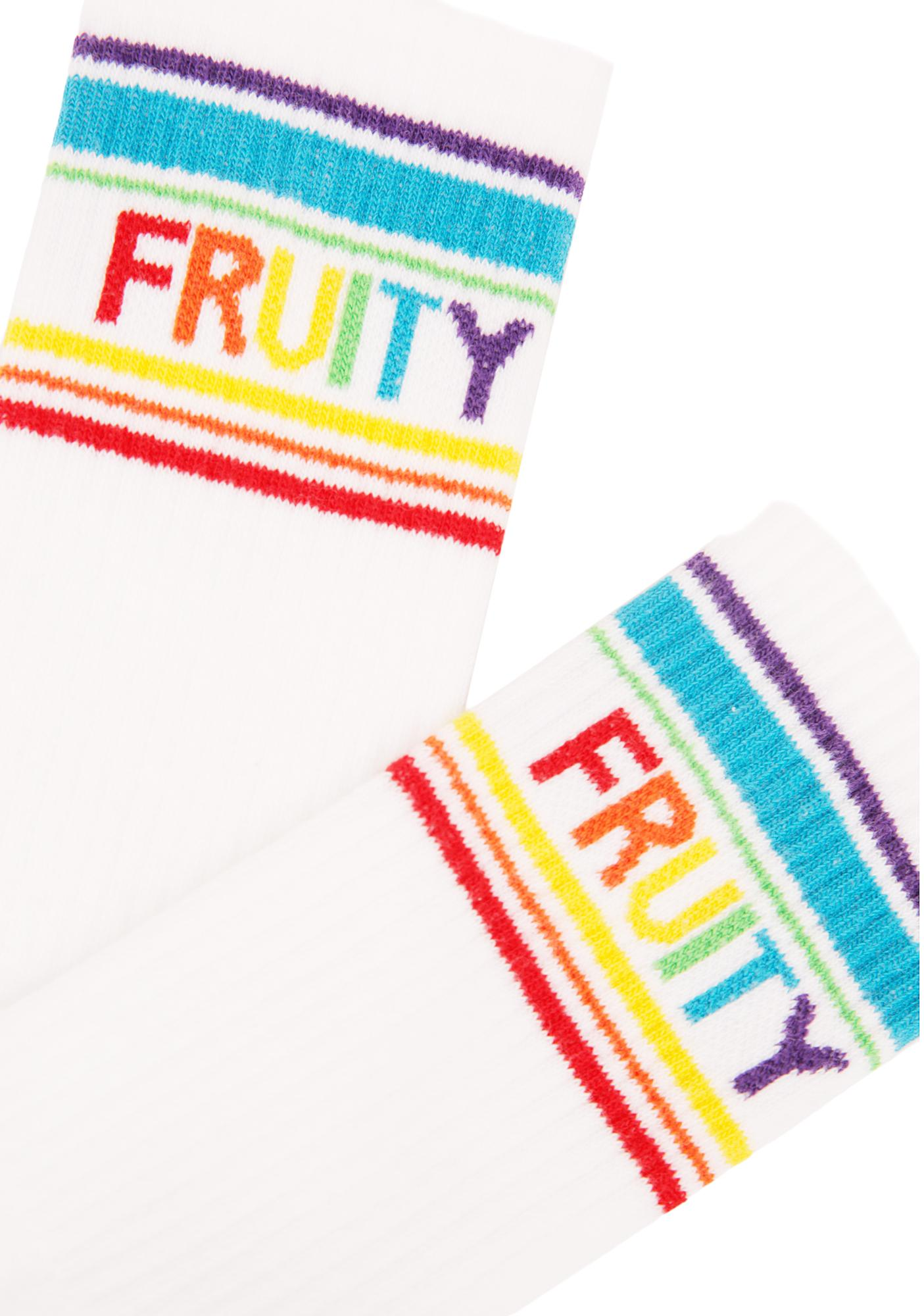 Gumball Poodle Fruity Gym Crew Socks